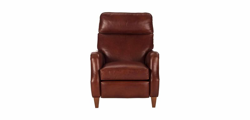 Aiden Leather Recliner, Old English/Saddle