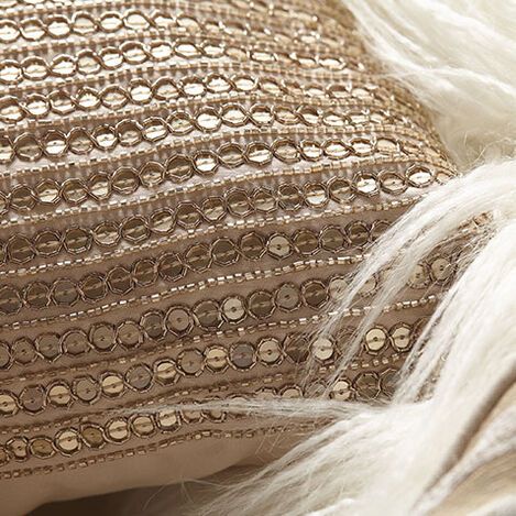 Sequined Pillow, Taupe Product Tile Hover Image 065686   TAU