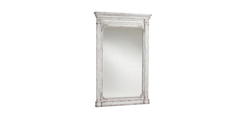 Antique White Madeleine Trumeau Floor Mirror