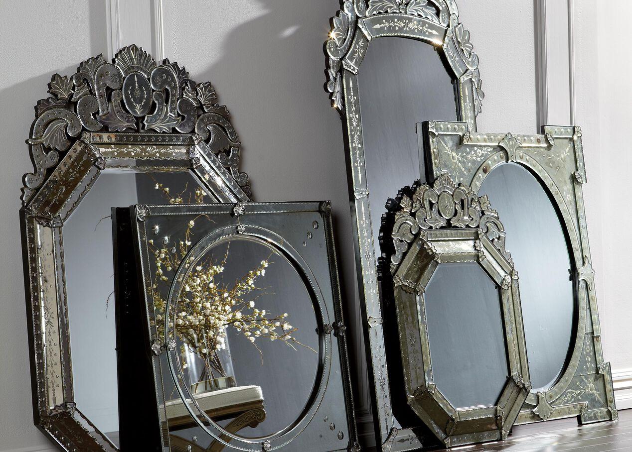 venetian crown floor mirror mirrors ethan allen