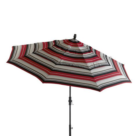 Crimson Stripe Round Market Umbrella ,  , large