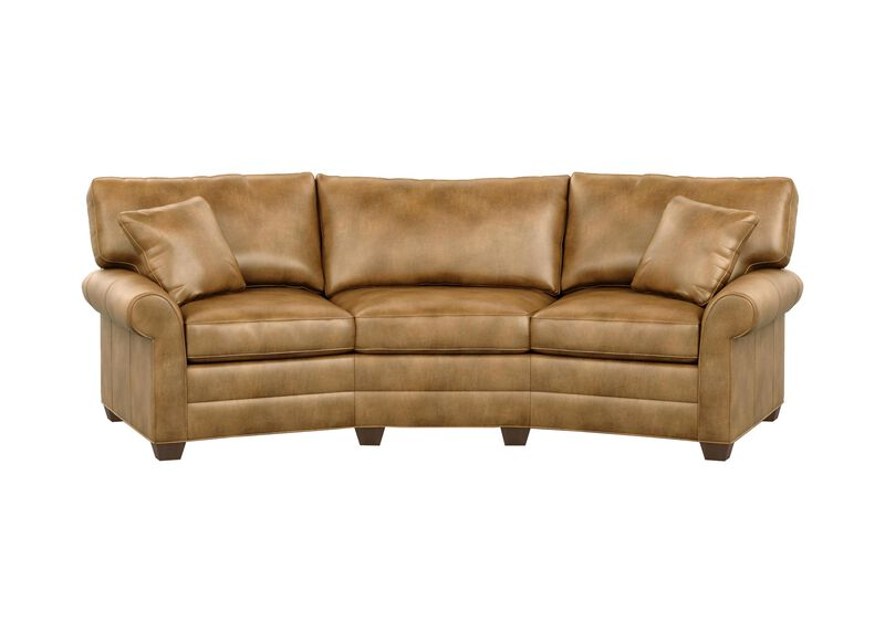 Bennett Conversation Leather Sofa ,  , large_gray