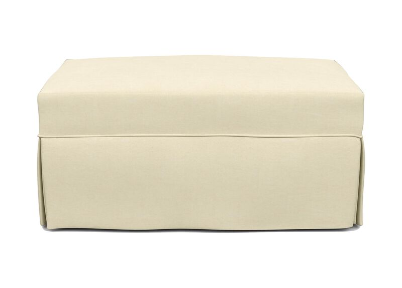 Lynn Slipcovered Ottoman ,  , large_gray