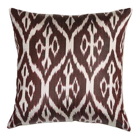 Silk Ikat Pillow, Smoky Rose Product Tile Image 061305