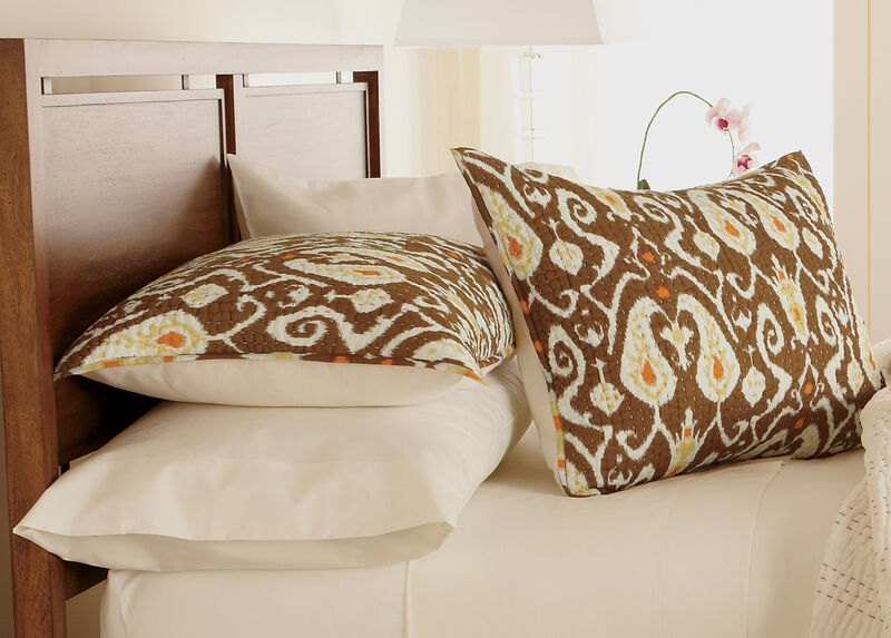 Trishna Brown Kantha Standard Sham at Ethan Allen in Ormond Beach, FL | Tuggl