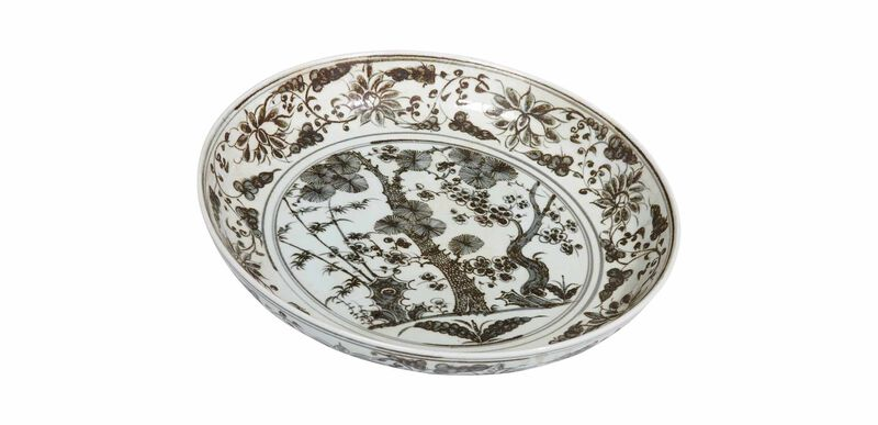 Ming Scenic Low Bowl