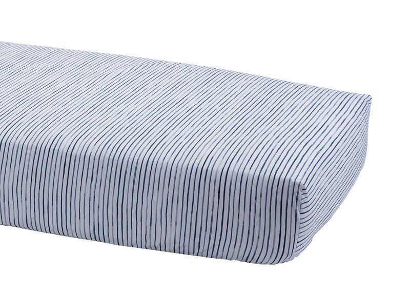 Paint Stripe Crib Sheet, Midnight