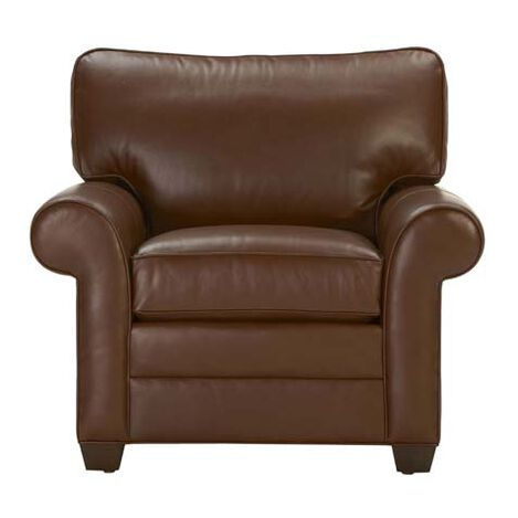 Bennett Roll-Arm Leather Chair ,  , large
