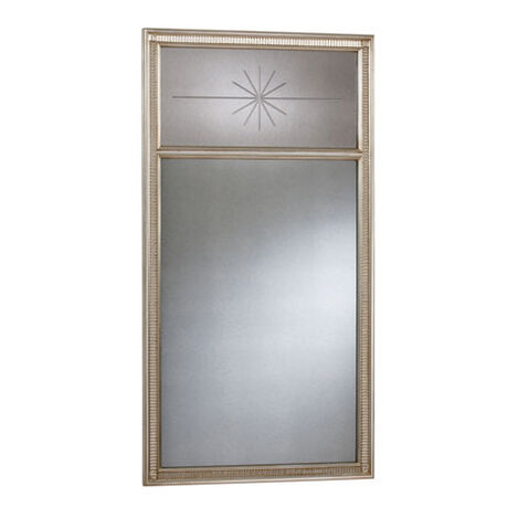 Antique Silver Cut Star Mirror ,  , large