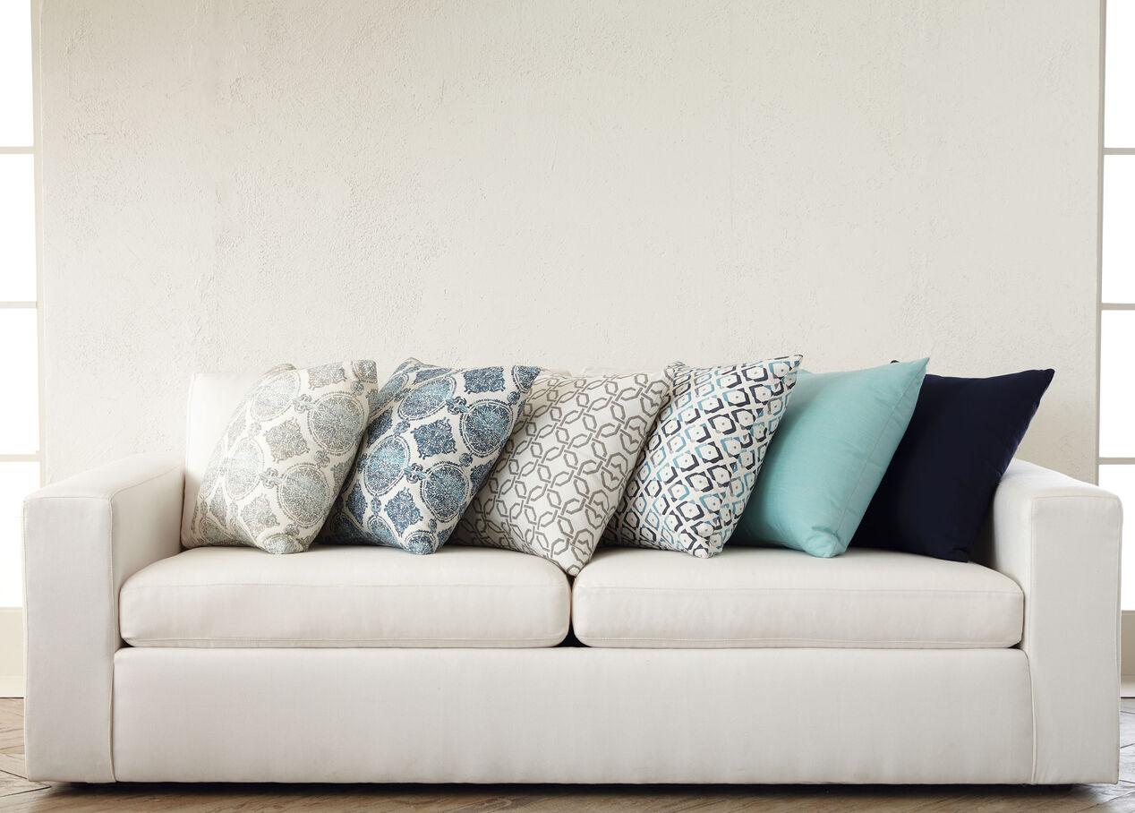 Lyle Moorish Tile Gray Outdoor Throw Pillows Ethan Allen
