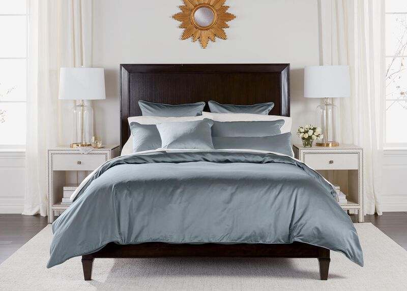 Salena Solid Duvet Cover and Shams, Mist Blue