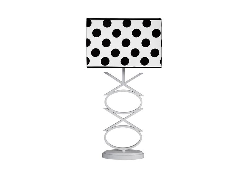 X and O Table Lamp ,  , large_gray