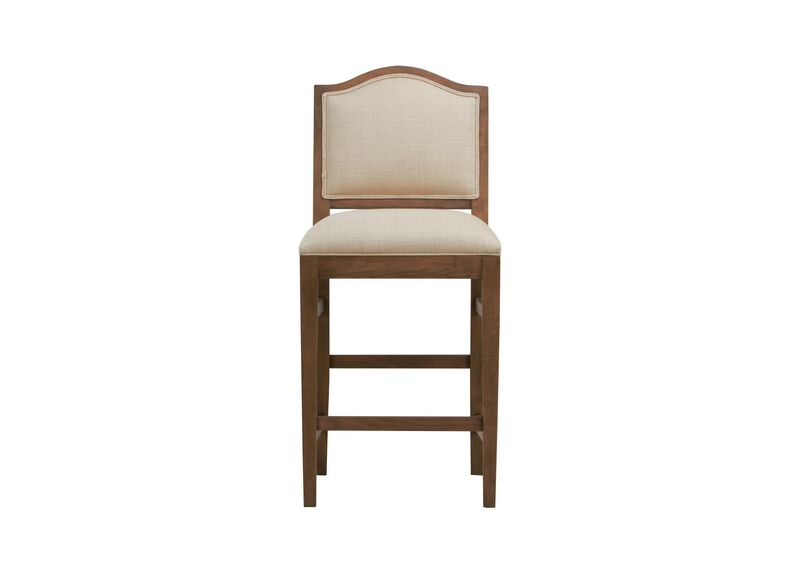 Hayden Counter Stool,  Arched Top and Tapered Leg