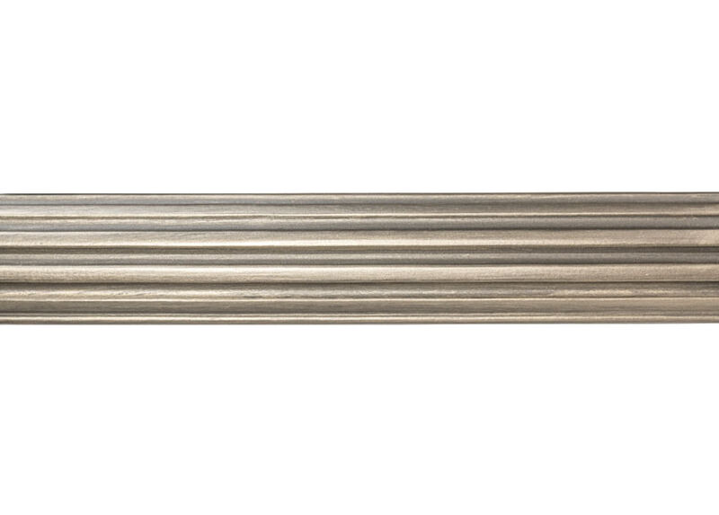 "2 1/4"" Fluted Wood Pole, Platinum ,  , large_gray"