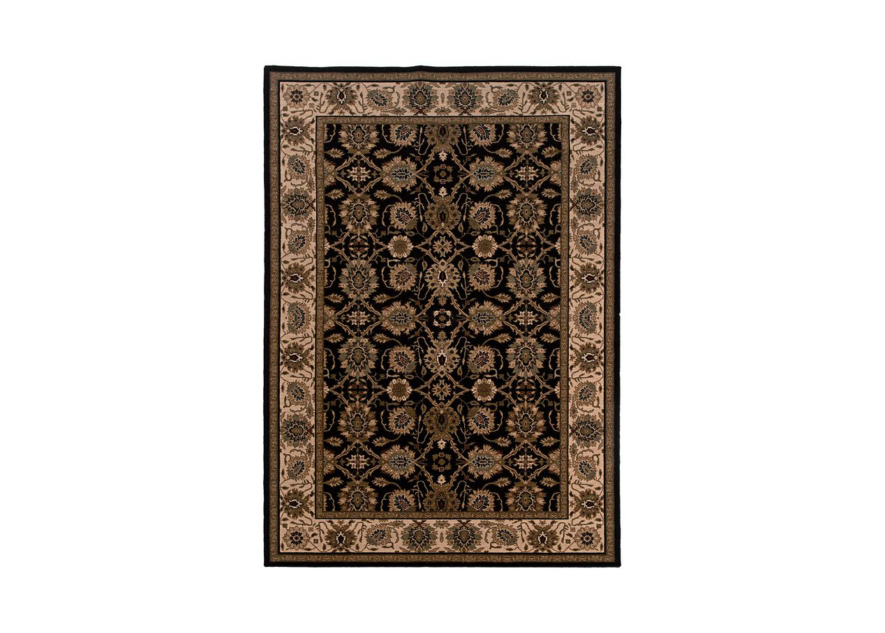 Sultanabad Area Rug Black Ivory Traditional Patterned