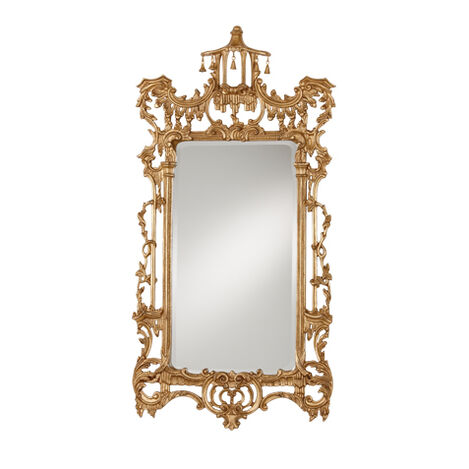 Gold Chinoiserie Mirror ,  , large