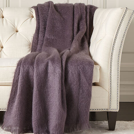 Mohair Plum Throw Product Tile Image 031781