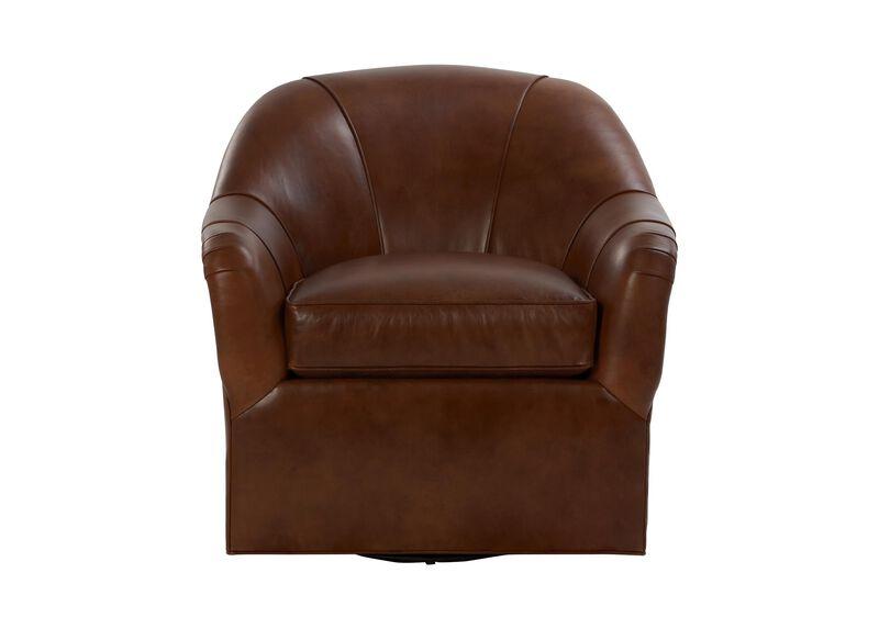 Marino Swivel Leather Chair ,  , large_gray