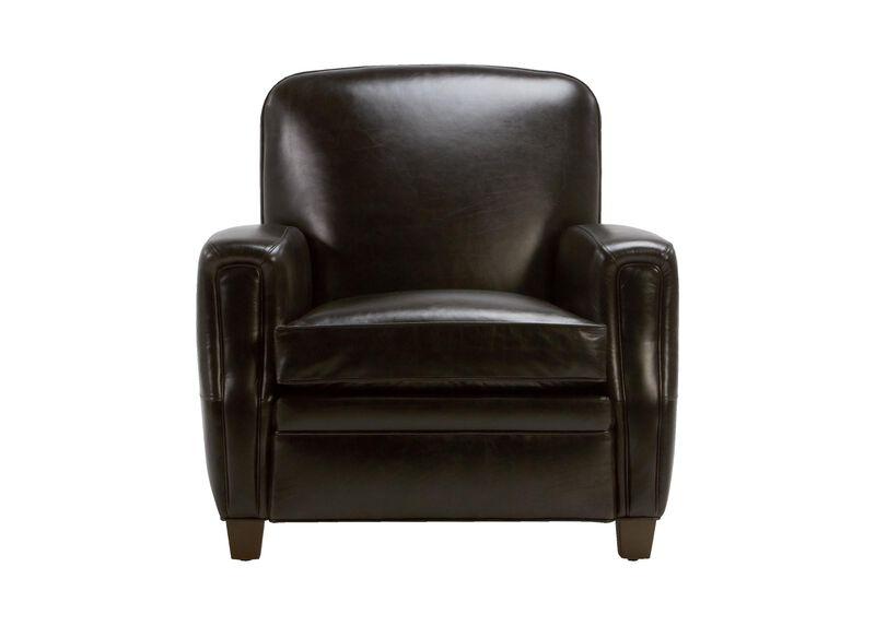 Dean Leather Chair, Anson Black