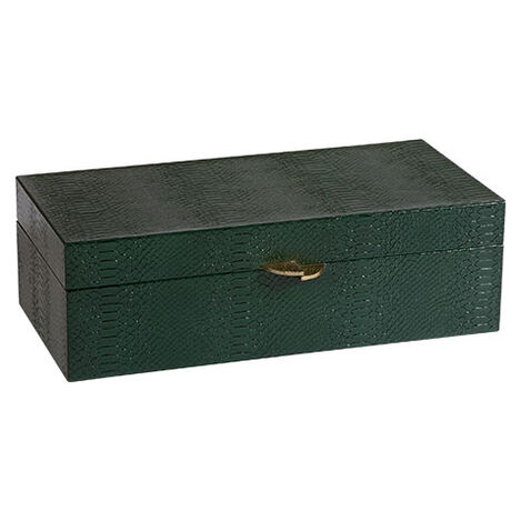 Emerald Snakeskin Box ,  , large