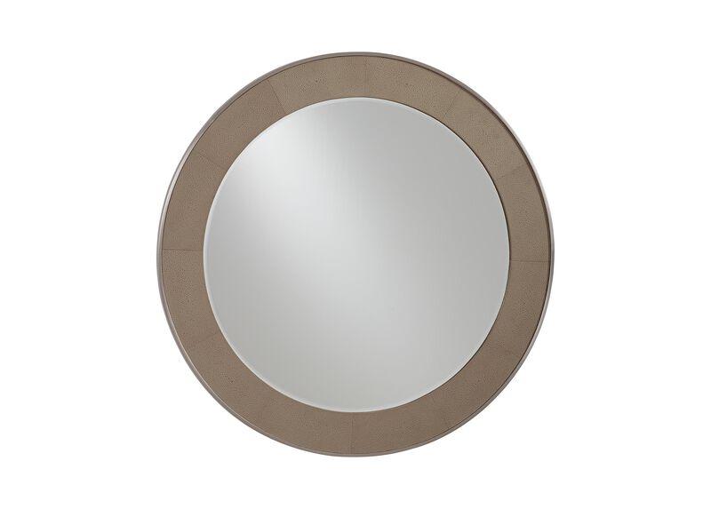 Rissa Round Leather Mirror