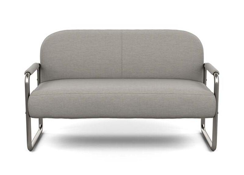 Orlando Sofette , Zest Steel (D1053), strie texture , large_gray
