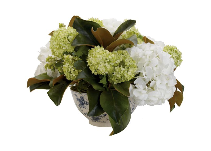 Hydrangea in Toile Bowl ,  , large_gray