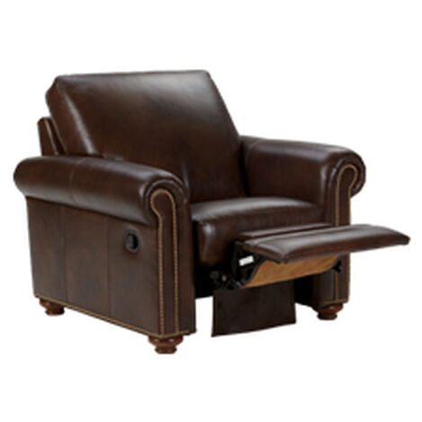 Conor Leather Recliner, Omni/Brown Product Tile Hover Image 837975 L7877