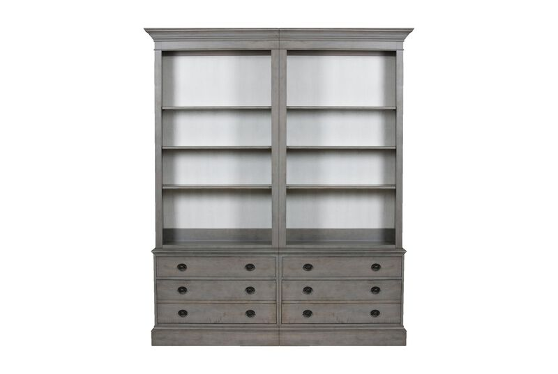Villa Double File Bookcase ,  , large_gray
