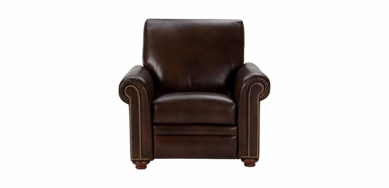 Conor Leather Recliner, Omni/Brown