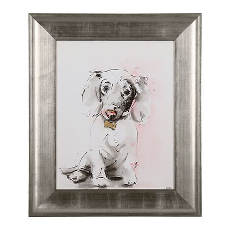 Glamour Dog Sketch VI, Silver ,  , large