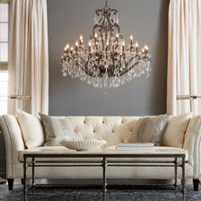 ... Large Whitney Slate Grand Chandelier , , Hover_image Part 85