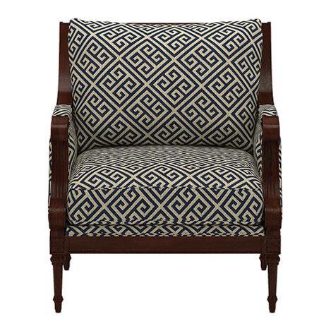 Fairfax Chair, Kedron Navy ,  , large