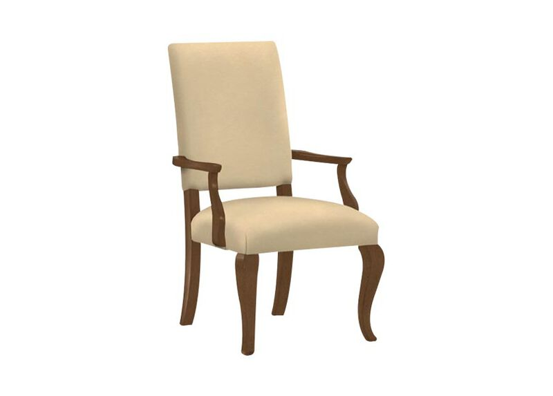 Hadley Cabriole-Leg Leather Armchair ,  , large_gray