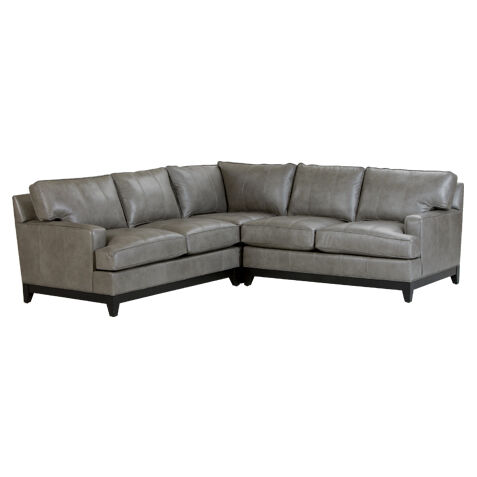 Arcata Leather Sectional   large  sc 1 st  Ethan Allen : leather sectional - Sectionals, Sofas & Couches