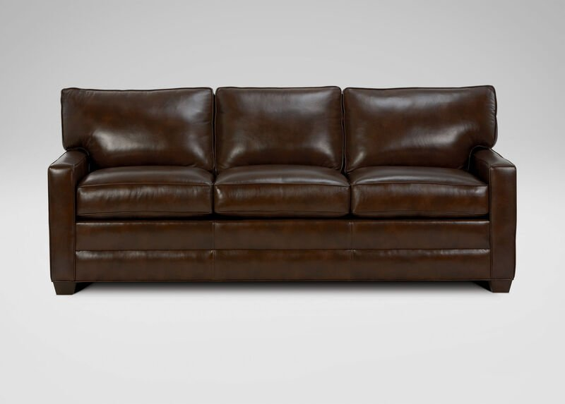 Bennett Track-Arm Leather Sofa ,  , large_gray