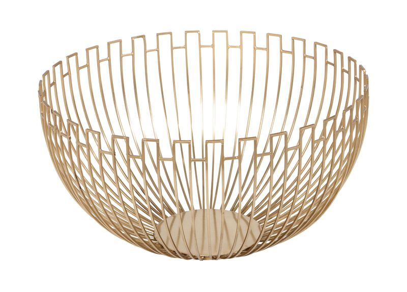 Brass Geometric Wire Bowl