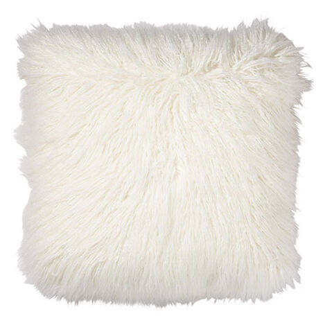 Faux Fur Pillow, Ivory ,  , large