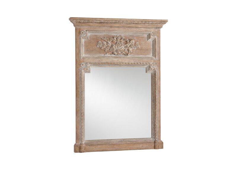 Aged Oak Madeleine Trumeau Wall Mirror