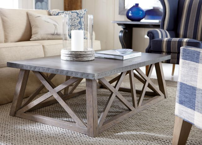 Bruckner Metal Top Coffee Table Tables Ethan Allen