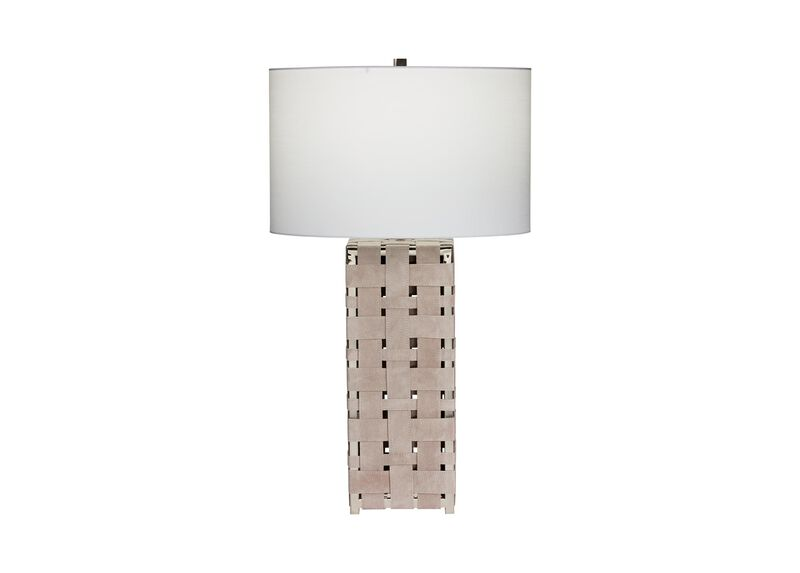 Alba Woven Leather Table Lamp