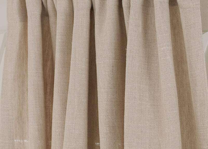 Natural Sayre Washed Linen Fabric by the Yard
