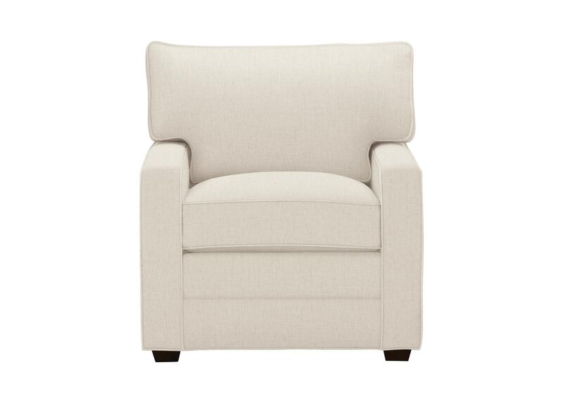 Bennett Track-Arm Chair, Quick Ship , Hailey Ivory (Q1032), solid texture , large_gray