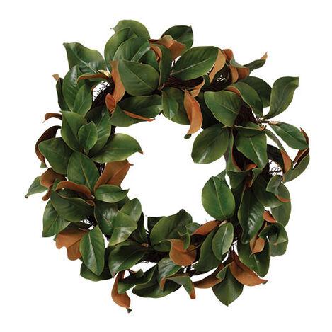 """30"""" Green Magnolia Leaf Wreath Product Tile Image 442235"""