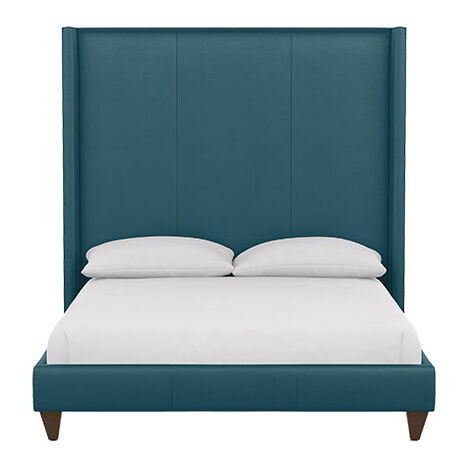 Colton Leather Bed with Tall Headboard Product Tile Image 72232G1