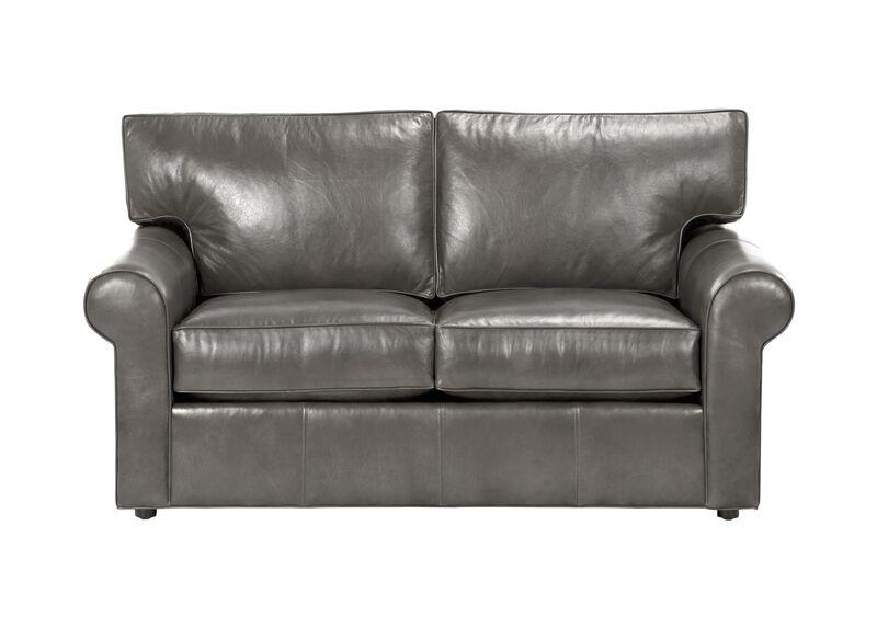 Retreat Roll-Arm Leather Sofa, Quick Ship
