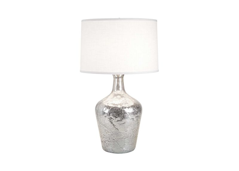 Small Silver Ice Plum Jar Lamp