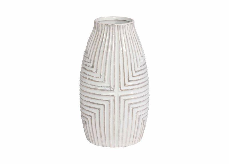 Aztec White Vase