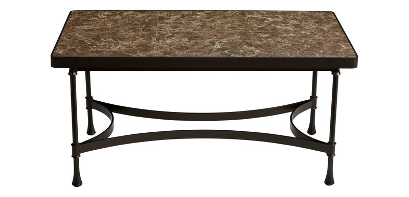 Biscayne Coffee Table with Dark Porcelain Top ,  , large_gray