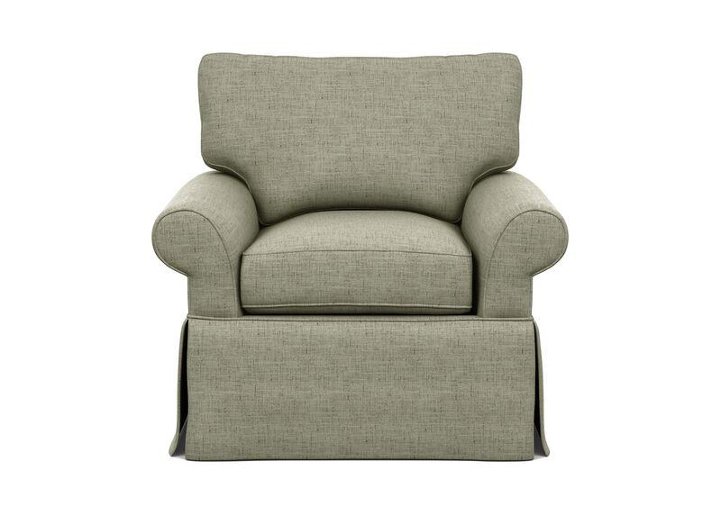 Bennett Slipcovered Chair ,  , large_gray